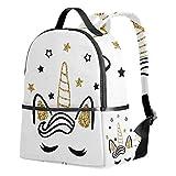 Ahomy Cute Unicorn Magic School Sac à dos avec des étoiles pour les filles et les garçons