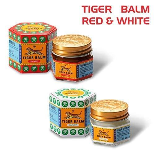 Tiger Balm rot N TIGER BALM WEISS 4 x 19,4 g