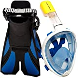 COZIA Design Ocean View Snorkel Set - Full Face Snorkel Mask with Adjustable