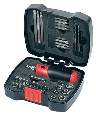 Black + Decker A7175 Kit cliquet manuel avec embouts 43 pièces