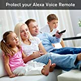 Remote Case/Cover for Fire TV Stick 4K, Protective Silicone Holder Lightweight [Anti Slip] ShockProof for Fire TV Cube/Fire TV(3rd Gen) Compatible with All-New 2nd Gen Alexa Voice Remote Control-Black