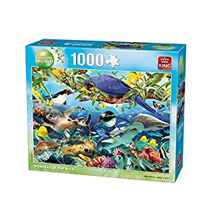 King Animal World Wonders 1000 pcs Puzzle - Rompecabezas (Puzzle Rompecabezas, Fauna, Adultos, Hombre/Mujer, 8 año(s), Cartón)