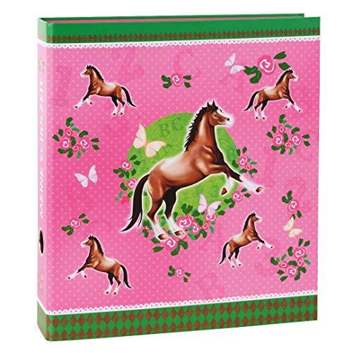 Goldbuch Schulzeitsammelordner, Pferde, A4, 5,5 cm Rückenbreite, Kunstdruck laminiert, Rosa, 35001