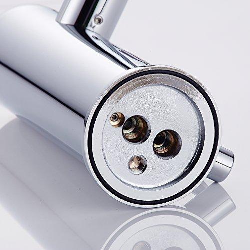 Auralum – Waschtisch-Armatur, Kalt- und Warmwasser, Sensorarmatur, Infrarot IR, Batteriebetrieb, Chrom - 9