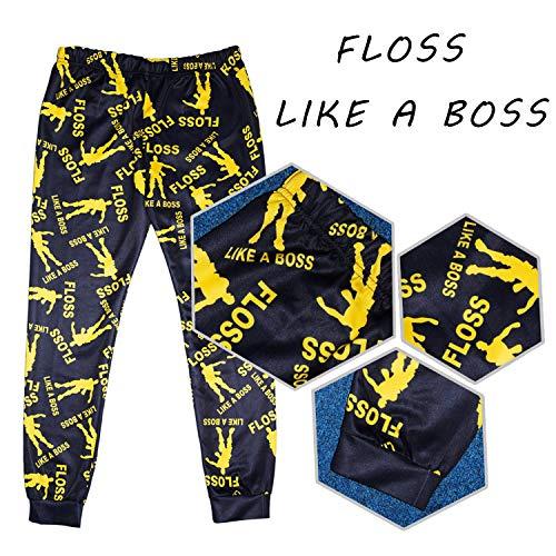 7e81a11eeb706 Vita Floss comme Un Pyjama Patron Garçons Ensemble Noir Or Coton De ...