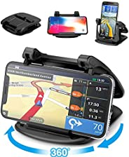 Cell Phone Holder for Car Dashboard, 360° Rotate Strong Sticky Gel Premium 3M Dashboard Car Mount Cradle Compa