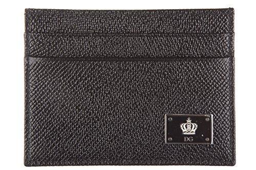 Dolce&Gabbana Kreditkartenetui Echtleder Herren Kreditkarten Geldbörse dauphine (Herren-geldbörsen Gabbana Dolce &)
