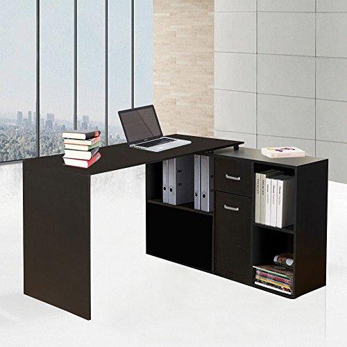 Preisvergleich Produktbild Generic Esk CO L-Form Eck-Schreibtisch Orner des Office Home ER Tisch mit P der Computer Laptop mit Stor Aufbewahrung Schrank