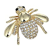 Tingsu-Brosche für Damen, süße Bienenenhemd, Anzug, Geschenk, Kragen Clip, Hemd, Brosche (weiß)