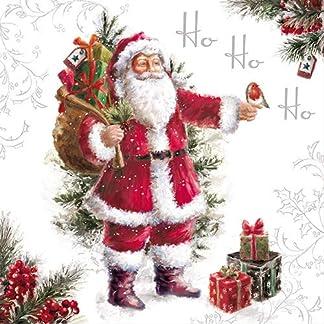 knusper. Casa Servilletas con diseño Impresión Papá Noel HoHoHo (33x 33cm/3–Capa–20Unidades) Navidad Highlight