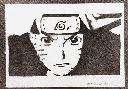 Naruto Hecho A Mano - Handmade Street Art Poster