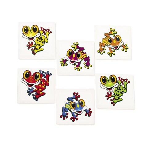 Kinder Tattoo Frosch 36 Stück in 6 Motiven Palandi®