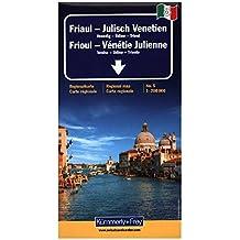 Frioul - Venetie Julienne (avec plans de Venise, Udine, Trieste) - Carte régionale, routière et touristique - Italie (échelle : 1/200 000)