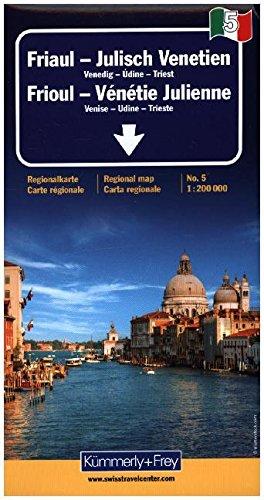Friuli / Venice Giulia 5 k&f (+r) par Hallwag Kummerly & Frey AG