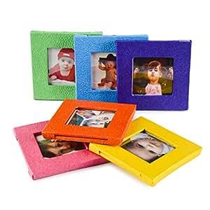 Ecoleatherette Magnetic Frame Fridge Magnet Assorted Colour Frames-Set Of 6