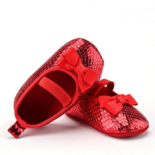 Belsen Neugeborene Baby Mädchen Pailletten Prinzessin Weicher schuhe Kleinkind Schuhe Rot