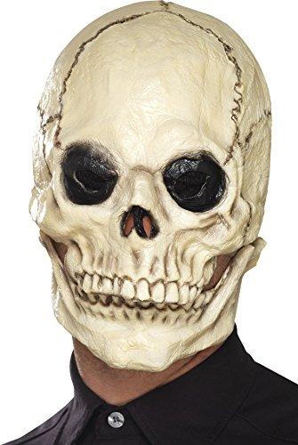 schädel Latex Schaum Gesichtsmaske, Ganzer Kopf, One Size, Weiß, 44887 (Latex-schaum-halloween-masken)