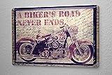 Blechschild Motorrad Garage Motorrad used Look Bild Wand Deko Schild 20X30 cm