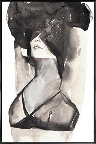 """JUNIQE® Bild mit Rahmen 30x45cm Schwarz & Weiß Akte - Design """"A Minikin"""" (Format: Hoch) - Wandbilder, Gerahmte Bilder & Gerahmte Poster - Schwarz Weiß Kunst - entworfen von Victoria Verbaan"""