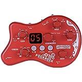 ammoon PockRock Portable Guitare Multi-effets Processeur Effect Pédal 15 Types d'effets 40 Drum Rhythms Fonction de Syntonisation avec Adaptateur Secteur