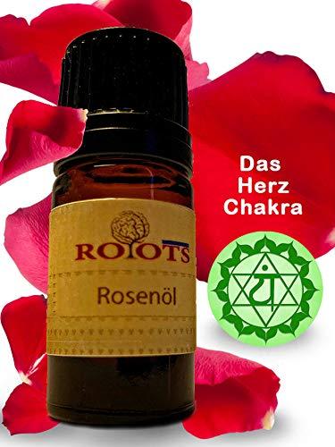 Rosenöl 10ml - HERZ-CHAKRA - Ägypten - 100% Naturreines Ätherisches - Reine & Natürliche öl - für Aromatherapie - Spa - Aroma Diffuser - Massagemischungen & Duftlampen - Raumbeduftung
