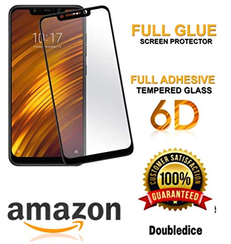 Poco F1 Tempered Glass Screen Protector Screen Guard with Installation Kit for douledicestore (Transparent)