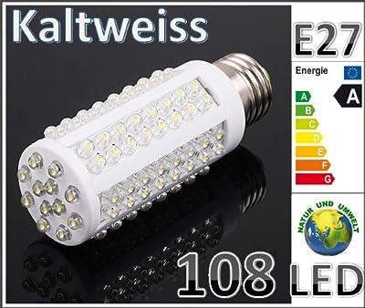 LED Lampe 96 LED Energiesparlampe Led Birne Leuchtmittel - E27 *Kaltweiss* 6W