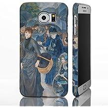 Classic Art Collection casos para la gama de Samsung Galaxy. famosa Artista Pintura fundas, plástico, The Umbrellas - Pierre Auguste Renoir, Galaxy S6 Edge