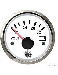 Voltmètre 18/32 V blanc/polie
