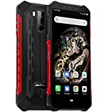 Ulefone Armor X5, 4G Móvil Antigolpes, MTK6763 Octa-Core 3GB RAM 32GB ROM, Android 9.0 5.5 'IP68 Impermeable Moviles Todoterreno, Dual SIM, 5000mAh Batería, Desbloqueo Facial NFC Rojo