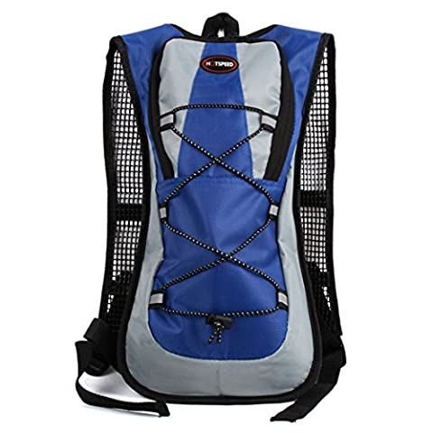 Outdoor Backpack, ADiPROD 5L Sports Cycling Water Bags Bike Hiking Travel Bag for Men and Women (Blue)