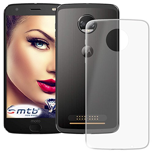 mtb more energy® Schutz-Hülle Clear & Slim für Motorola Moto Z2 Force (5.5'') | transparent | flexibel | TPU Silikon Case Cover Tasche