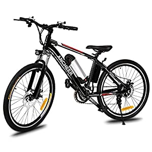 Ancheer 26 inch Electic Mountain Bike, 250W E-bike High Speed Gear Motors Electric Bicycle with Removable Lithium-Ion Battery and Battery Charger