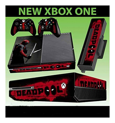 XBOX ONE CONSOLE STICKER DEADPOOL MERCENARY WADE WILSON 001 SKIN & 2 PAD SKINS by unbranded