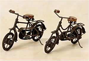 4er-SET Eisen-Fahrrad 2fach sortiert 28 x 12 x 18 cm
