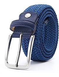 Constructs Cinturón Elástico Para Hombres Cinturón De Cintura Estiramiento  De La Lona Cinturón De Cuero Trenzado 4c20d58fd1fa