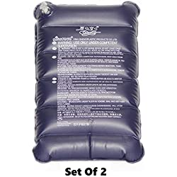 SaleOn™ 2 Pcs Portable Folding Pillow Air Flocking Cushion For Outdoor Travel Pillow-288