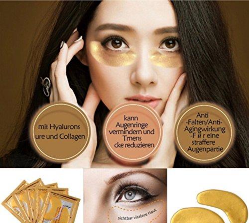 ILOVEDIY 10Stück Golden Eye Collagen Augen Maske Anti Falten Augenmaske
