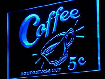enseigne lumineuse j148 b coffee 5 cents vintage reporduction neon sign luminaires. Black Bedroom Furniture Sets. Home Design Ideas