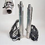 Edelstahl 3' Tiefbrunnenpumpe 550W-750W 7-11,5bar 2100-2700 l/h Rohrpumpe Brunnenpumpe (3'SQIBO 0,55kw)