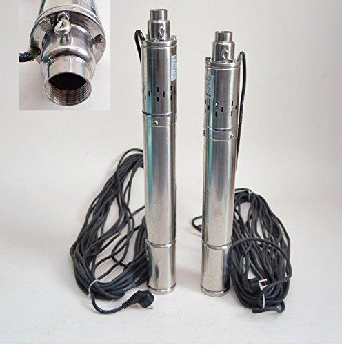"Preisvergleich Produktbild Edelstahl 3"" Tiefbrunnenpumpe 550W-750W 7-11,5bar 2100-2700 l/h Rohrpumpe Brunnenpumpe (3""SQIBO 0,55kw)"