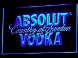 Absolut Vodka LED Zeichen Werbung Neonschild Blau