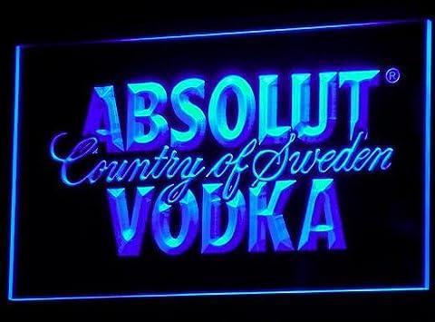 Absolut Vodka LED Zeichen Werbung Neonschild Blau (Werbung Absolut Vodka)