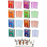 Casinoite Modiano Texas Holdem Poker Cards Board Game (Multicolour) - Pack Of 8