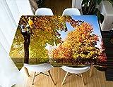 Tischdecke gedruckt Ahorn Muster Tischdecke Vintage Rechteck Abendessen Picknick Küche Flat Table Blatt 140 * 200 cm / 55 * 79 in ZB-71 (Color : 5, Size : 140 * 200CM)