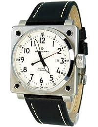REVUE THOMMEN 16576,2133 - Reloj analógico automático para hombre, correa de cuero color negro