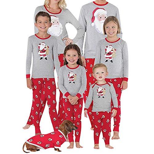 K-youth Ropa para Padres e Hijos Conjuntos Bebe Niño Navidad Pijama para Padres e Hijos Ropa Mujer Hombre Invierno 2018 Ofertas y Pantalones Conjunto de Ropa(Bebé, 5-6 años)
