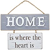 Shudehill, Home Wooden Shabby Chic Hanging Wall Plaque Motif, Home 2