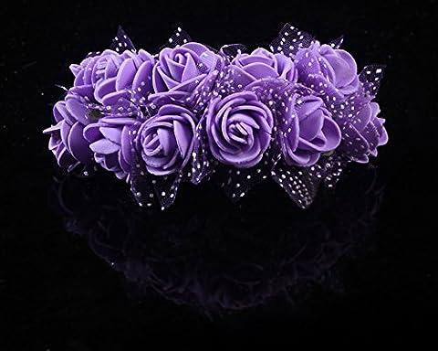 Butterme 144 Pcs Mini Künstliche Schaum Rosen Blumen Hochzeits Fälschungs Blumen Blumensträuße Handwerk DIY Hausgarten Dekor