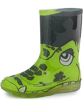 Ladeheid Botas de Caucho de Goma Zapatos de Seguridad Unisex Niños PA120PS